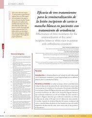 Eficacia de tres tratamientos para la remineralización de ... - IntraMed
