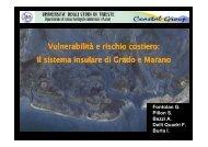 Vulnerabilità e rischio costiero: Il sistema insulare di Grado e ... - vector