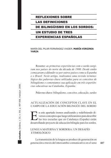 reflexiones sobre las definiciones de bilingüismo en ... - cultura Sorda