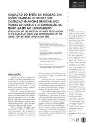 avaliação do efeito da inclusão das lesões cariosas - Unimep