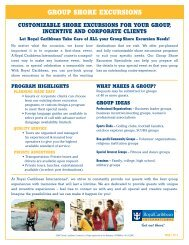 GROUP SHORE EXCURSIONS - Royal Caribbean International