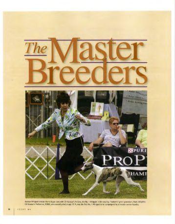 "Purina Today's Breeder Magazine -- ""The Master Breeders"""