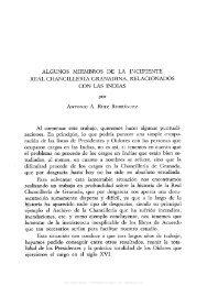 ALGUNOS MIEMBROS DE LA INCIPIENTE REAL CHANCILLERIA ...