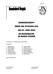 Protokoll der Sitzung Nr. 03 vom 03. Juni 2002 - Gemeinde Hergatz