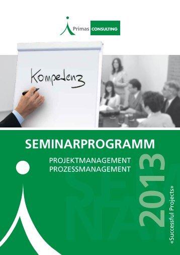 Seminarprogramm (PDF) - Primas CONSULTING GmbH