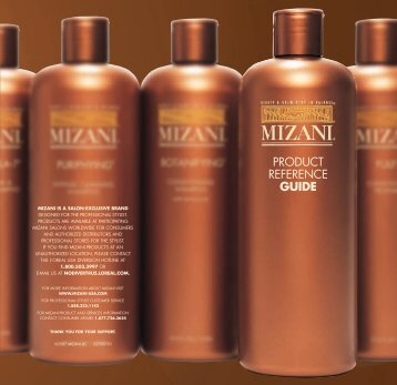 PRODUCT REFERENCE GUIDE - Mizani