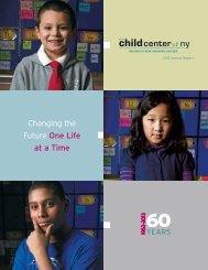 Annual Report 2012 - The Child Center of NY