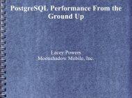 PostgreSQL Performance From the Ground Up