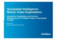 Geospatial Intelligence: Motion Video Exploitation - South Africa ...