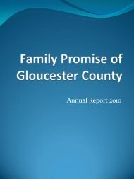 Annual Report 2010 - Family Promise of Gloucester County