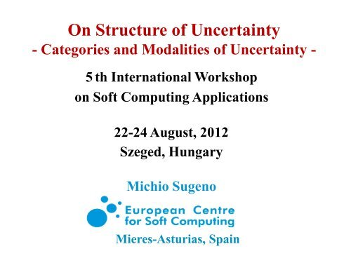 Categories and Modalities of Uncertainty - trivent.hu