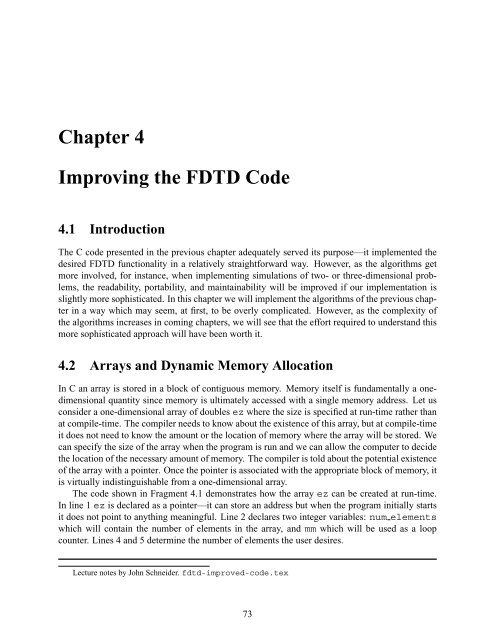 Chapter 4 Improving the FDTD Code 4 1 Introduction