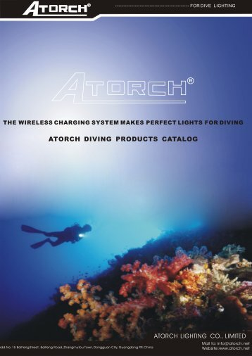 ATORCH DIVING PRODUCTS CATALOG - Atorch.net