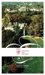 ANNUAL REPORT - Chestnut Hill College