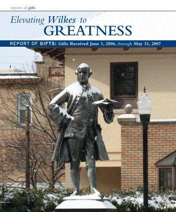 GREATNESS GREATNESS - Wilkes University
