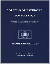 COLÈÇÃO DE ESTUDOS E DOCUMENTOS - World eBook Library