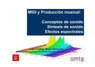 MIDI y Producción musical: Conceptos de sonido Síntesis de sonido ...