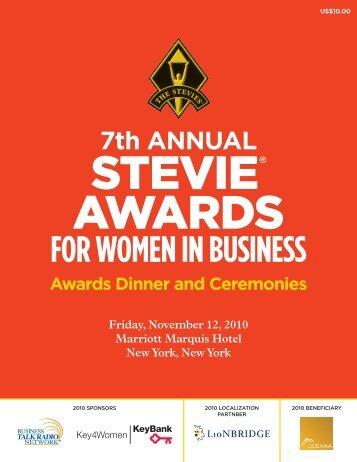SAWIB09 Program K - the Stevie Awards