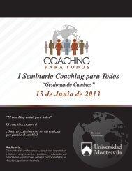 I Seminario Coaching para Todos 15 de Junio de 2013
