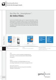 die Online-Filiale+ - geno kom Werbeagentur GmbH