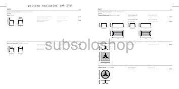 prijzen exclusief 19% BTW - Subsolo Outdoor