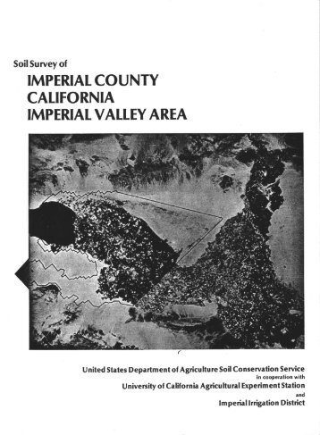 Soil Survey of Imperial County, California, Imperial Valley Area