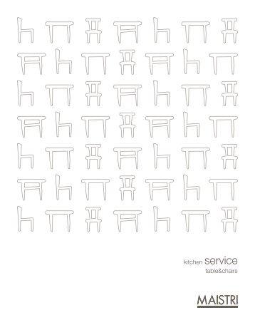 catalogo tavoli e sedie - Maistri