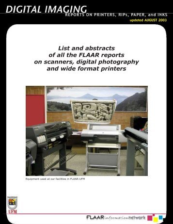 List and abstracts of all the FLAAR reports - Digital photography ...