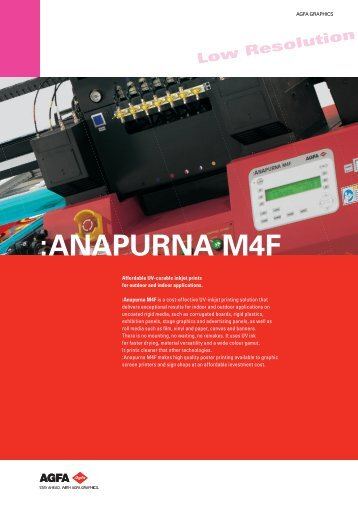 Anapurna M4F - Alpha Imaging Technologies, Inc.