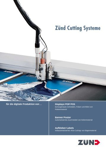 Zünd Cutting Systeme - Lackner Service G3 Digital-Cutter