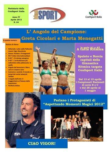 Anno IV - Aprile 2012 - n. 4 - confsport italia