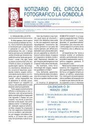 Marzo 2004 - Circolo Fotografico La Gondola