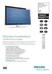 47PFL9732D/10 Philips Flat TV mit Perfect Pixel HD und Ambilight ...
