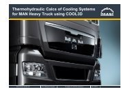 Thermohydraulic Calcs of Cooling Systems for MAN Heavy Truck ...