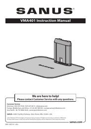 VMA401 Instruction Manual - Sanus