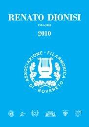 Appuntamenti musicali Renato Dionisi 1910-2010 - Comune di ...