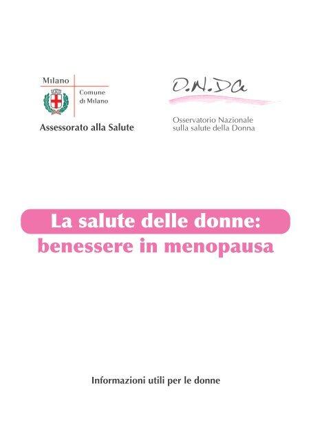 Benessere In Menopausa Osservatorio Nazionale Sulla Salute