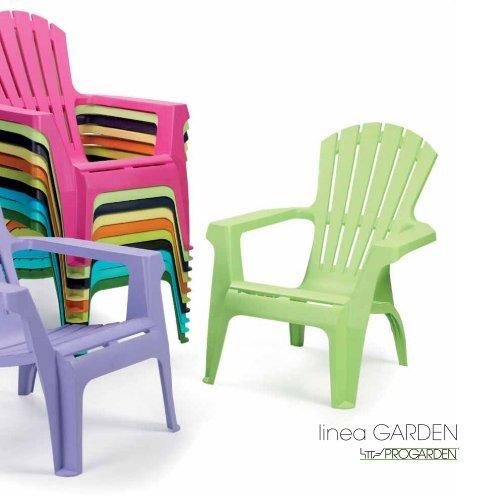 IPAE-PROGARDEN Sedia da Giardino impilabile Colore Antracite Modello Lord