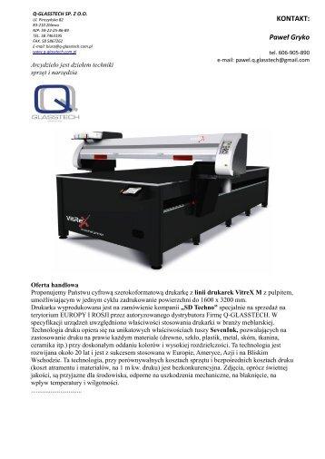 Drukarki - Q-Glasstech