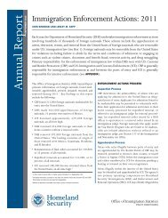 Immigration Enforcement Actions: 2011 - Homeland Security