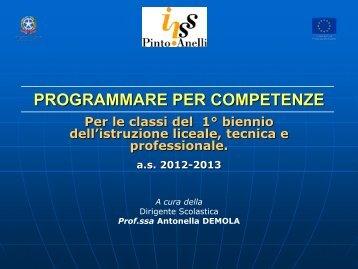 Programmare per Competenze - IISS Pinto - Anelli