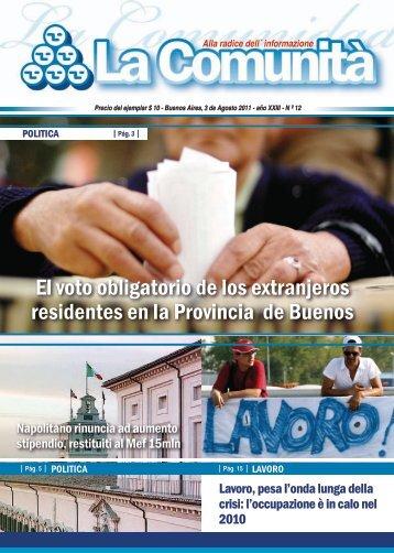 El voto obligatorio de los extranjeros residentes en la ... - Italarg.org