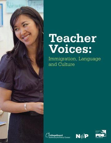 Immigration, Language and Culture - College Board Advocacy ...