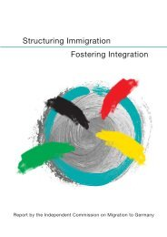 Structuring Immigration - Fostering Integration - des ...