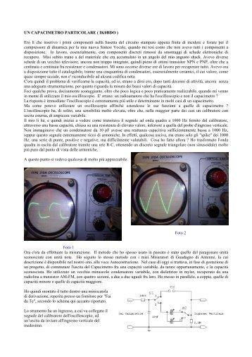 capacimetro oscilloscopico - Gruppo Radioamatori Colli Albani
