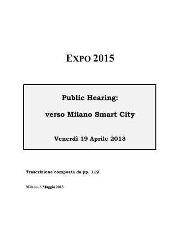 Verso Milano Smart City