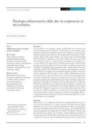 Patologia infiammatoria delle alte vie respiratorie in età evolutiva