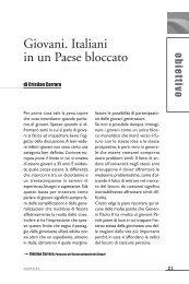 Giovani. Italiani in un Paese bloccato - Enaip