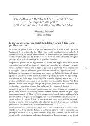 Contributo del Not. Federico Tassinari - Fondazione Italiana del ...