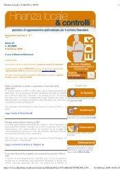 Finanza Locale e Controlli n. 04-09.pdf - EDK Editore